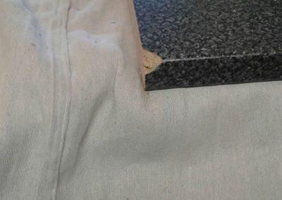 Worktop repair - before