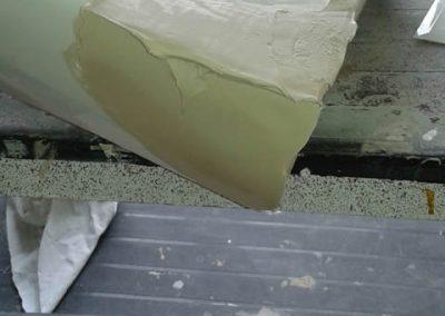 Basin repair - during